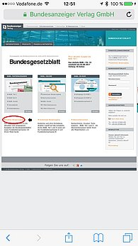 BGBl. Mobile Web-App Start